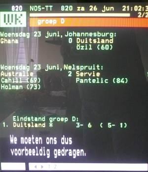 Teletekst WK2010